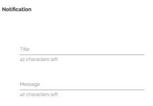 Create a push notification
