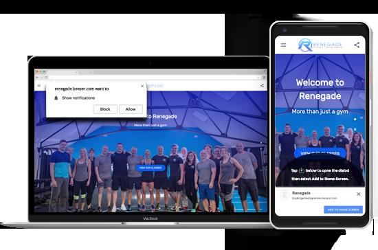 Gym Progressive Web App for Free