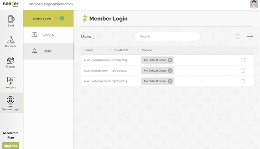 Member Login in App Builder